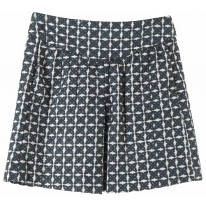 Mango Dark Blue And White Skirt