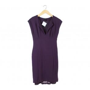 Mango Purple Midi Dress