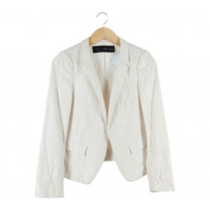 Zara Off White Lace Blazer