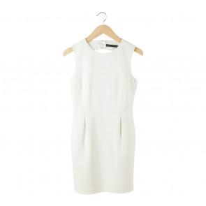 Zara White Back Cut Out Mini Dress