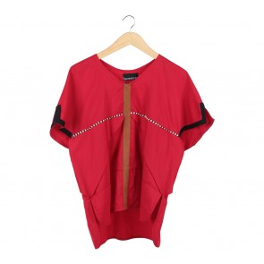 Oline Workrobe Red Blouse