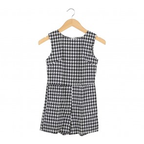 J.REP Black And White Houndstooth Sleeveless Jumpsuit
