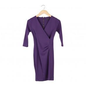 Lookboutiquestore Purple Wrap Mini Dress