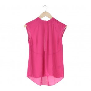Warehouse Pink Back Cut Out Blouse