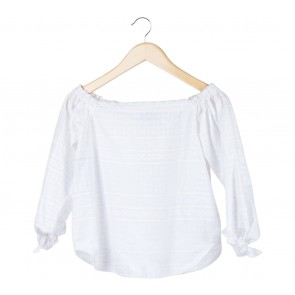 Cotton Ink White Bardot Blouse