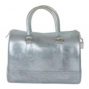 Furla Silver Glittery Handbag