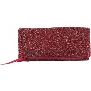 Banana Republic Maroon Clutch