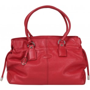 Tod´s Red Leather Shoulder Bag