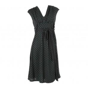 (X)SML Black And Green Polka Dot Mini Dress