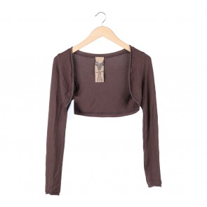 Zara Brown Cropped Cardigan