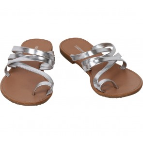 Forever 21 Silver And Brown Sandals