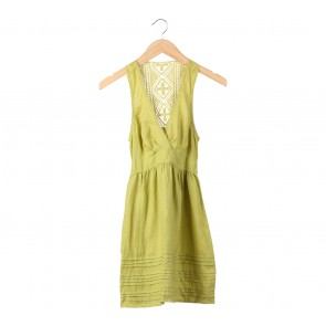 Forever 21 Green Lace Sleeveless Mini Dress
