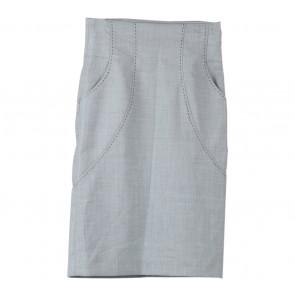 Mango Grey Midi Skirt
