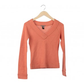 Mango Orange Knit Sweater