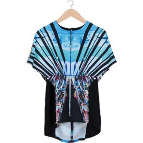 Multi Color Batwing Blouse