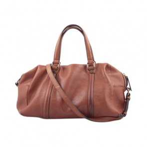 Zara Brown Leather Hand Bag