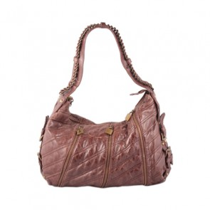 Betsey Jhonson Brown Leather Shoulder Bag