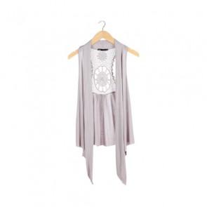 Grey Sleeveless Outerwear