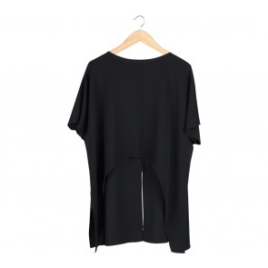 Shop At Velvet Black Cropped Tied Blouse