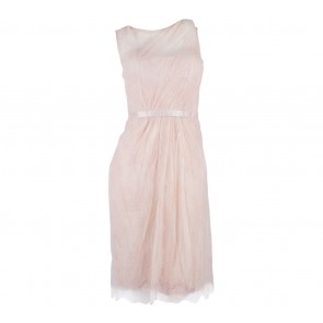Sapto Djojokartiko Peach Sheer Mini Dress