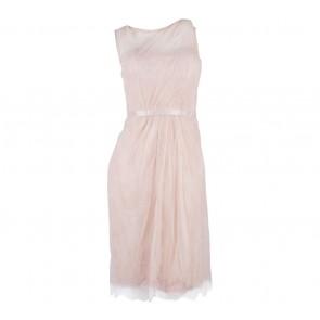 Sapto Djojokartiko Peach Sheer Mini Dress
