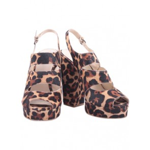 Wittner Brown Animal Print Heels