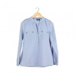 Light Blue Star-Dot Shirt