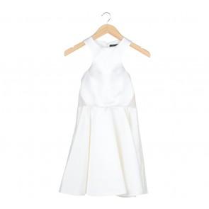 Peggy Hartanto Off White Sheer Insert Mini Dress