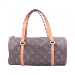 Louis Vuitton Brown Monogram Round Hand Bag