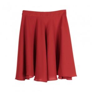 Orange Flare Mini Skirt