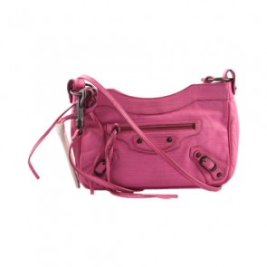 Balenciaga Pink Agneau Leather Sling Bag