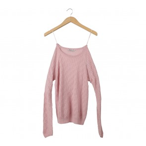 Stradivarius Pink Textured Sweater