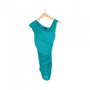 Green Draped Elastic Mini Dress