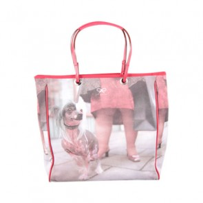 Anya Hindmarch Red Doggy Tote Bag