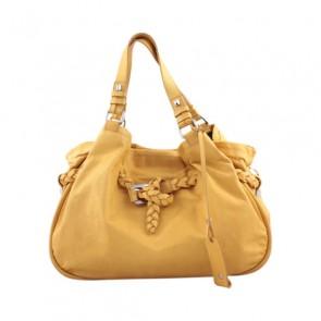 Francesco Biasia Yellow Leather Shoulder Bag