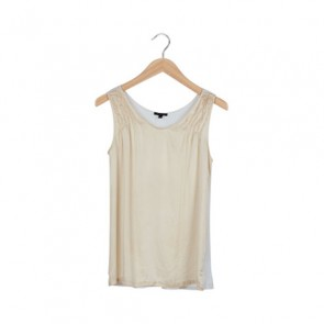 White and Gold Sleeveless Top
