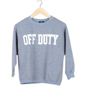 Grey Printed Sweater