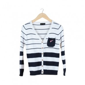 White Striped Cardigan