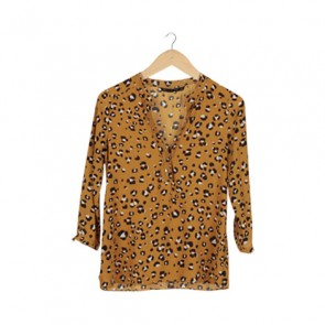 Mustard Animal Print Blouse