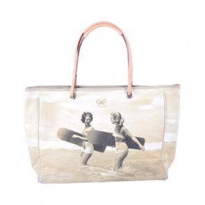 Anya Hindmarch Grey Surfer Woman Tote Bag