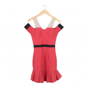 Ciel Red Mini Dress