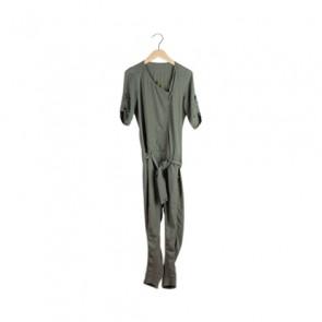 Green Side Zipper Long Jumpsuit