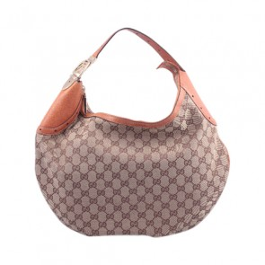 Gucci Brown Leather Hand Bag