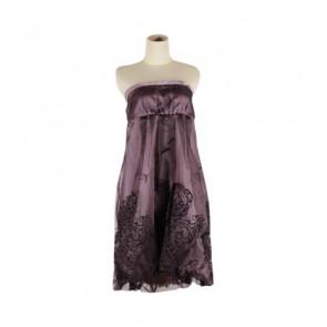 Purple Tube Midi Dress