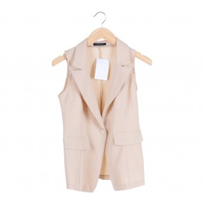Cream Sleeveless Blazer