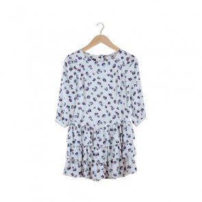 Multi Color Ruffle Mini Dress