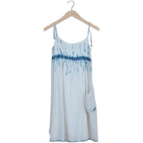 White Tie Dye Mini Dress