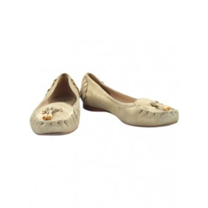 Kate Spade Gold Moccasin Shoes