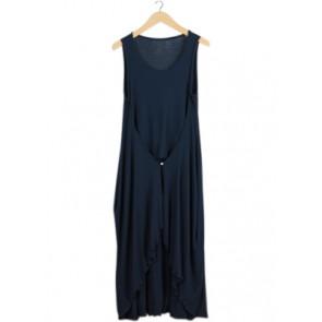 Blue Sleeveless Midi Dress