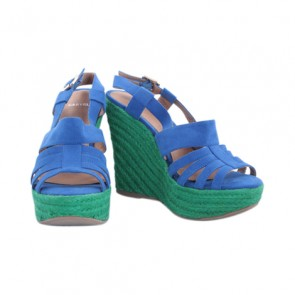 Carvela Blue and Green Wedges